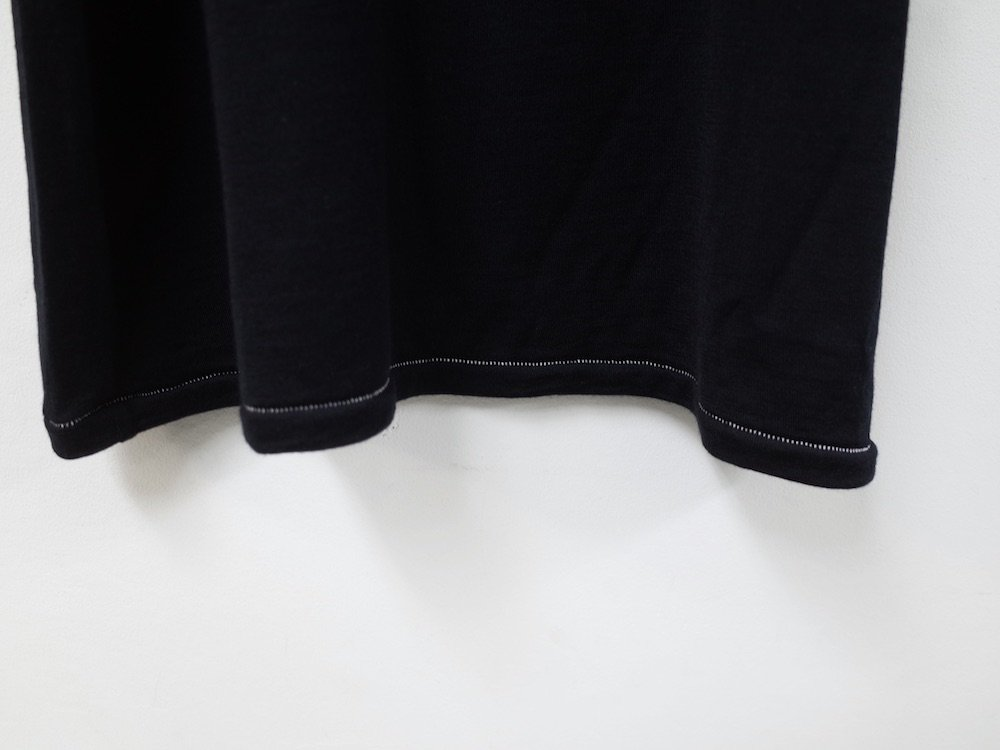 <img class='new_mark_img1' src='https://img.shop-pro.jp/img/new/icons20.gif' style='border:none;display:inline;margin:0px;padding:0px;width:auto;' />THEE merino wool double sleeve knit MW-KT-02 black