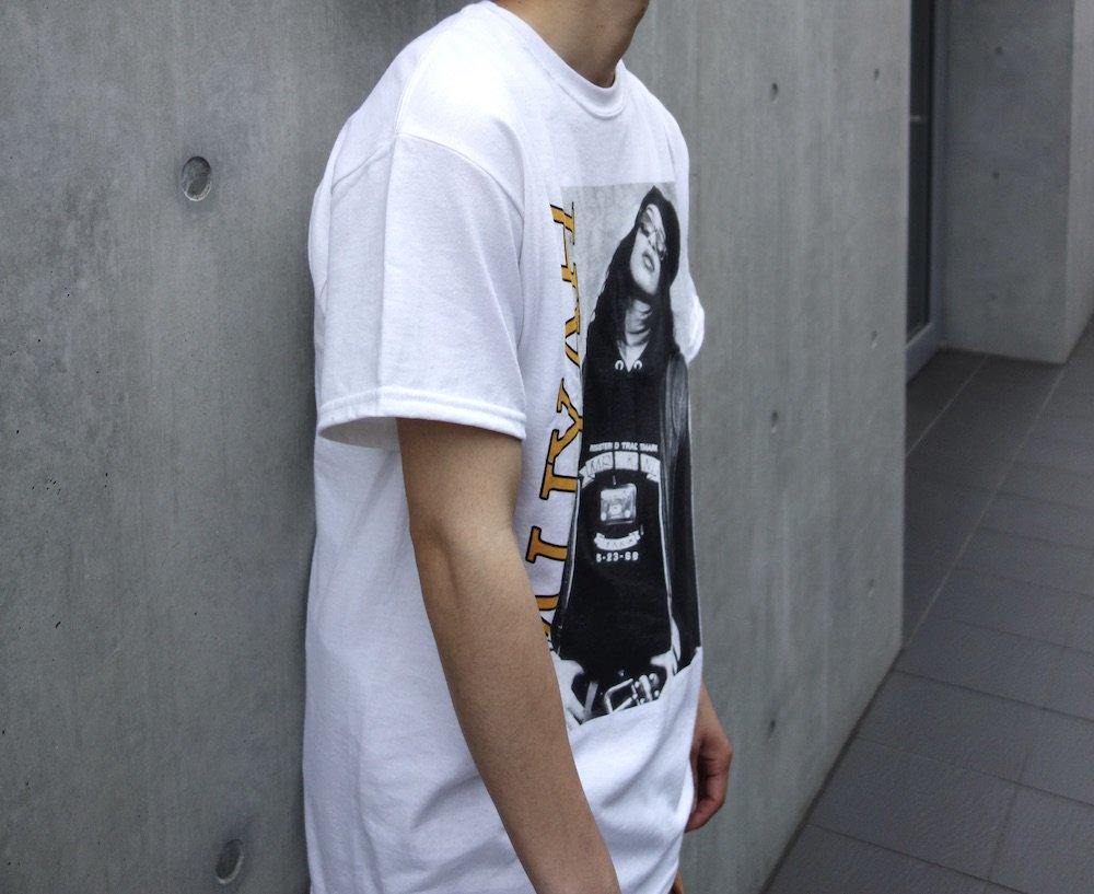 海外限定 オフィシャル Aaliyah  Tシャツ white