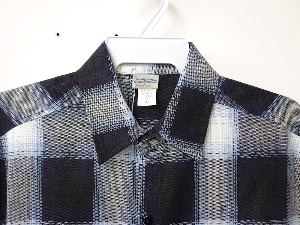 CALTOP OMBRE CHECK S/S シャツ N/S  MADE IN USA
