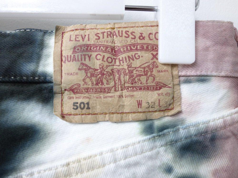 Levi's  リーバイス 501  タイダイ染め デニムパンツ  ポーランド製 W32 #12