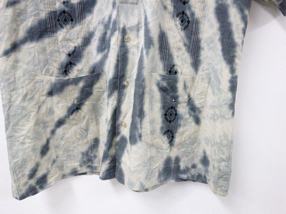 CUBA SHIRT  タイダイ染め オープンカラー 刺繍 シャツ #4