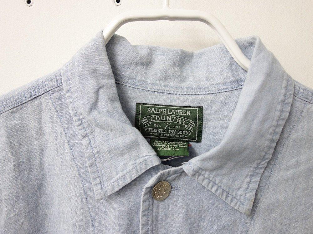 RALPH LAUREN COUNTRY  シャンブレーワークシャツ USED