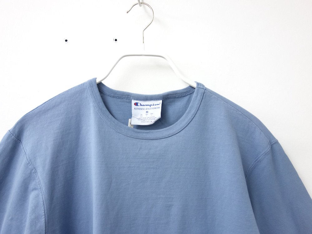 海外企画 Champion Garment Dyed Long-Sleeve Tシャツ Saltwater
