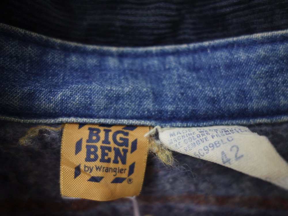Vintage 70-80s BIG BEN by Wrangler デニムカバーオール USA製 USED