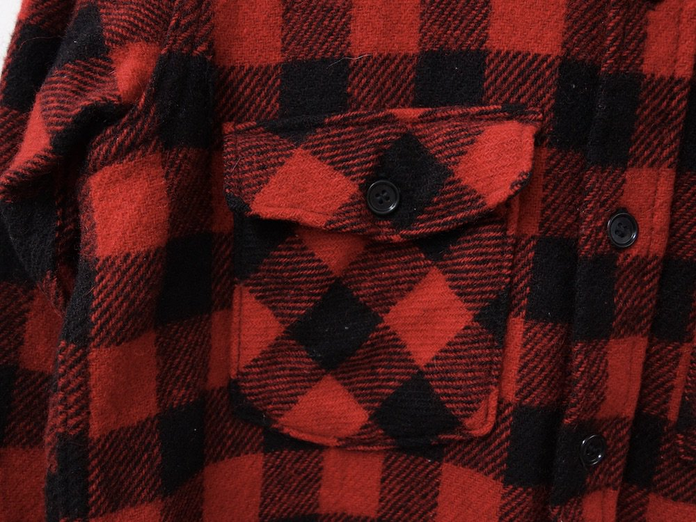VINTAGE 80's L.L.Bean ヘビーフランネル ワークシャツ MADE IN USA USED