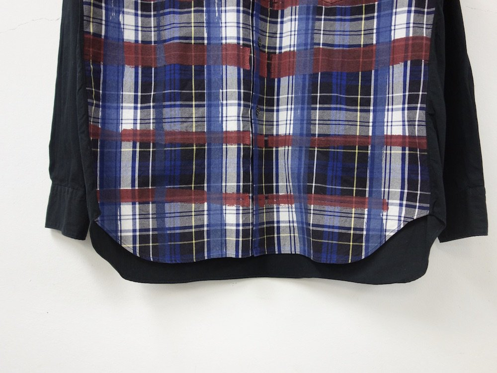 COMME des GARCONS SHIRT チェック柄 ペイントシャツ MADE IN FRANCE USED