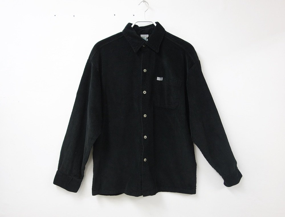 <img class='new_mark_img1' src='https://img.shop-pro.jp/img/new/icons15.gif' style='border:none;display:inline;margin:0px;padding:0px;width:auto;' />CALTOP CORDUROY シャツ black MADE IN USA
