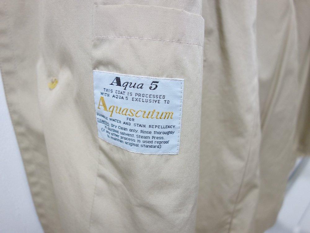 Aquascutum アクアスキュータム ステンカラーコート MADE IN ENGLAND USED