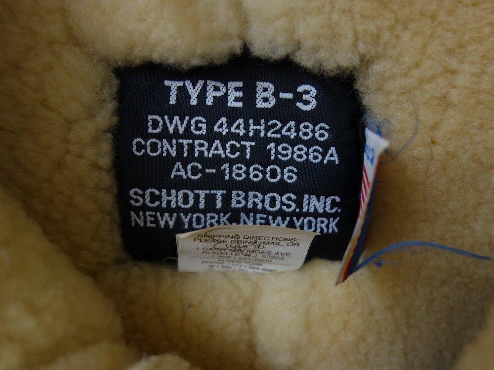 <img class='new_mark_img1' src='https://img.shop-pro.jp/img/new/icons15.gif' style='border:none;display:inline;margin:0px;padding:0px;width:auto;' />SCHOTT B-3 シープスキン ムートンジャケット USA製 #8 USED