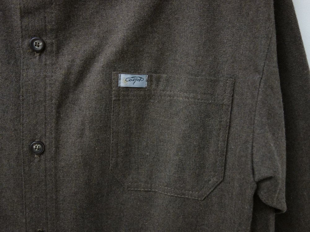 CALTOP FLANNEL シャツ brown MADE IN USA