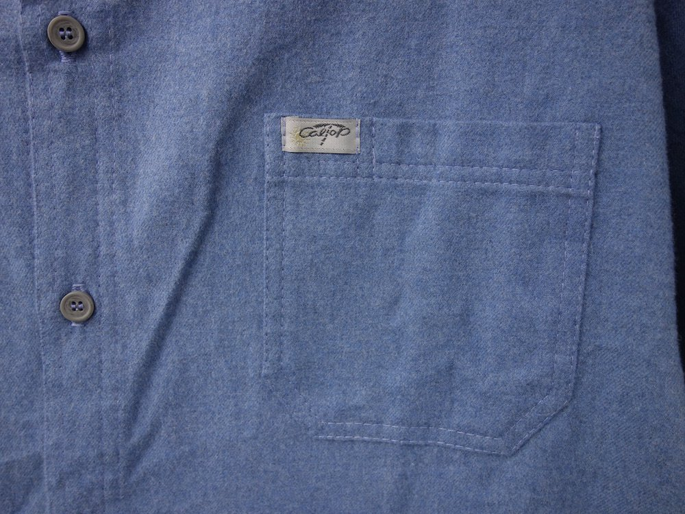 CALTOP FLANNEL シャツ blue MADE IN USA