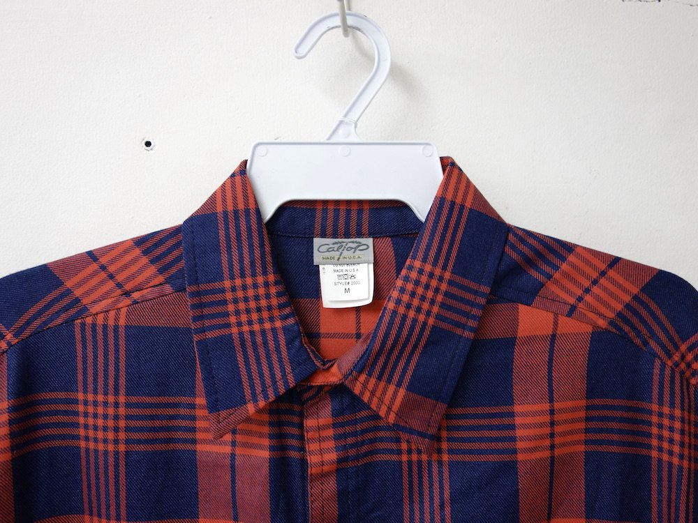 <img class='new_mark_img1' src='https://img.shop-pro.jp/img/new/icons15.gif' style='border:none;display:inline;margin:0px;padding:0px;width:auto;' />CALTOP FLANNEL CHECK シャツ red MADE IN USA