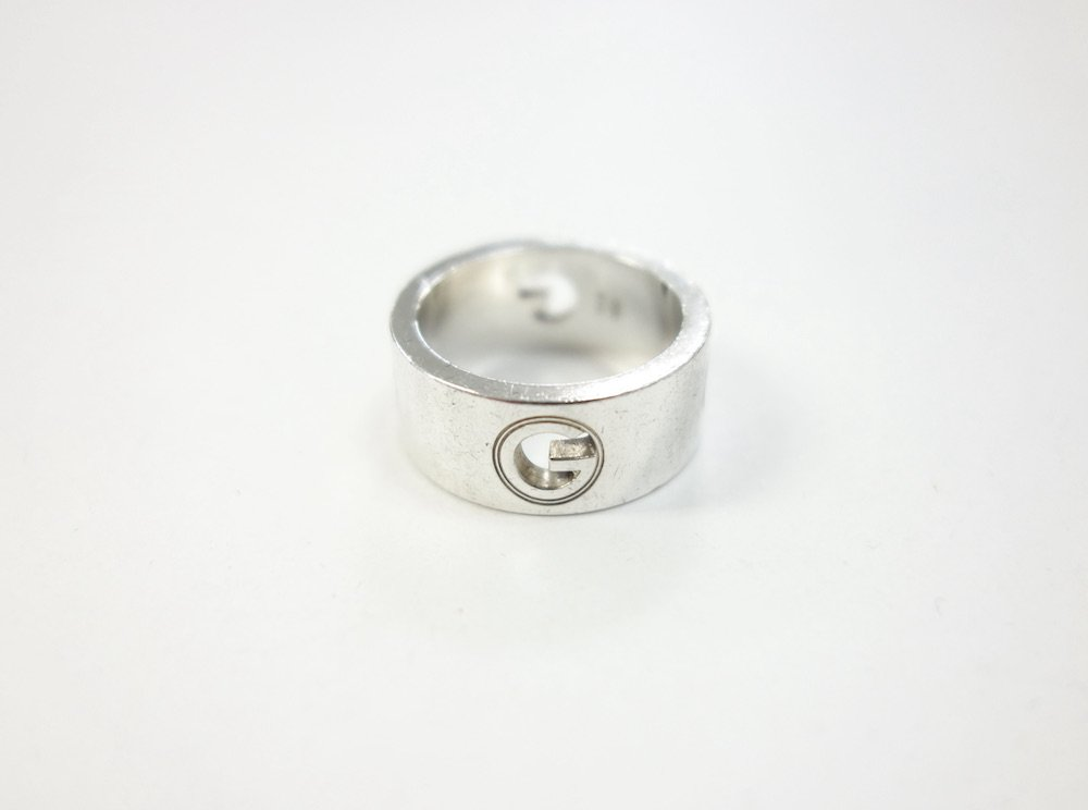GUCCI グッチ Gロゴ リング silver925 10号 MADE IN ITALY  USED