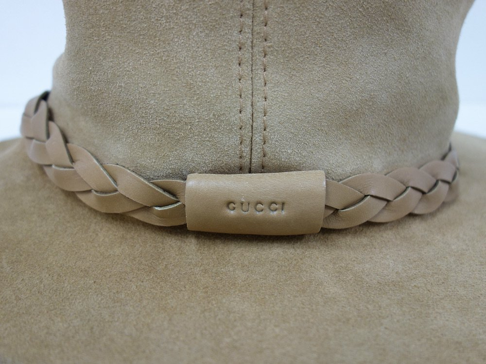 GUCCI グッチ  スエードレザーハット  MADE IN ITALY USED