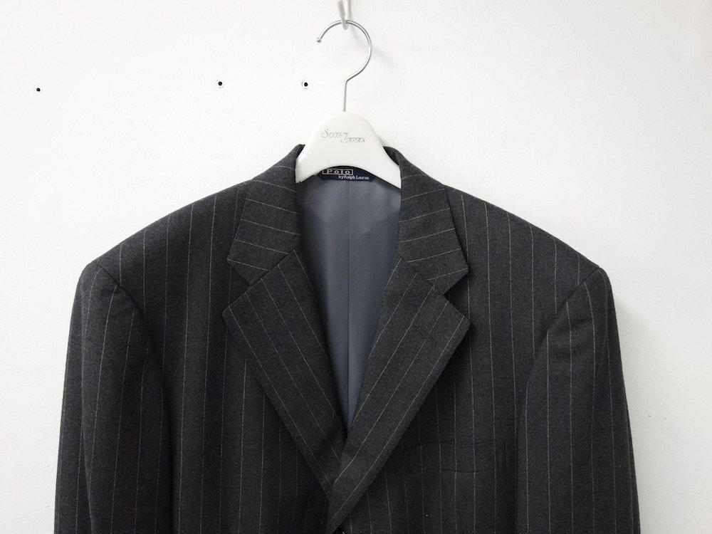 ポロ ラルフローレン  ストライプ柄 スーツ セットアップ  日本製 USED