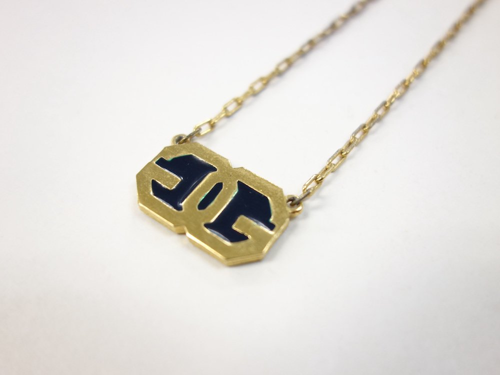 VINTAGE GIVENCHY ジバンシィ Gロゴ チェーンネックレス USED