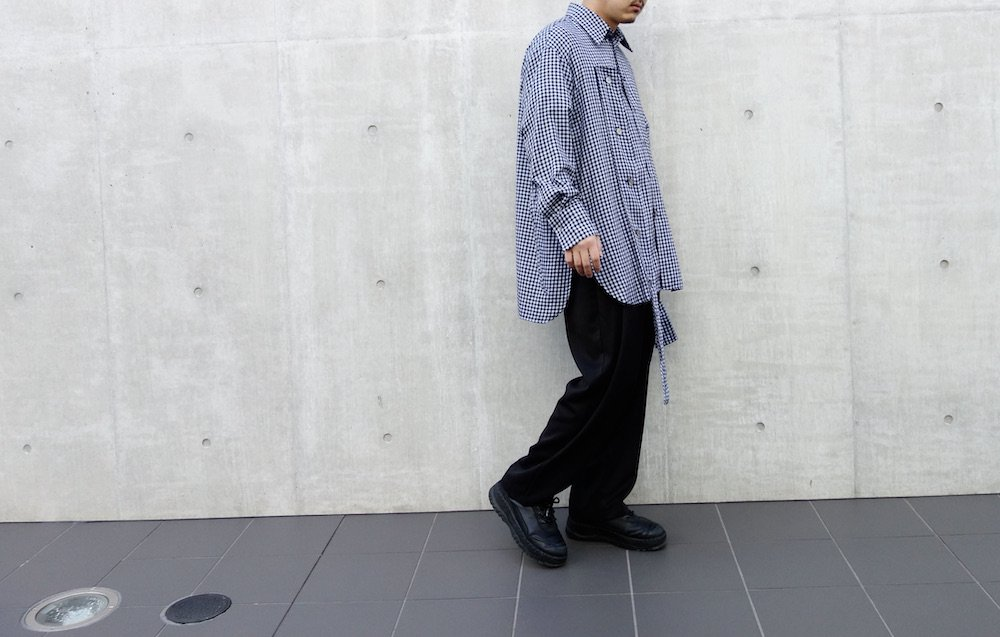 <img class='new_mark_img1' src='https://img.shop-pro.jp/img/new/icons15.gif' style='border:none;display:inline;margin:0px;padding:0px;width:auto;' />Nephele check flannel long シャツ