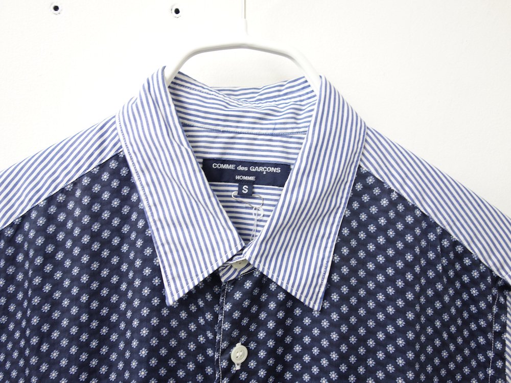 COMME des GARCONS HOMME 切り返し S/S シャツ AD2011 日本製 USED