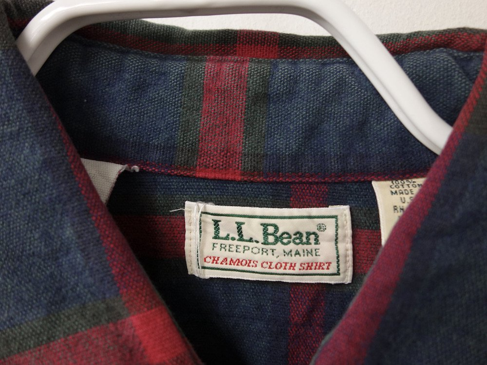 <img class='new_mark_img1' src='https://img.shop-pro.jp/img/new/icons15.gif' style='border:none;display:inline;margin:0px;padding:0px;width:auto;' />VINTAGE 80's L.L.Bean フランネル ワークシャツ MADE IN USA USED
