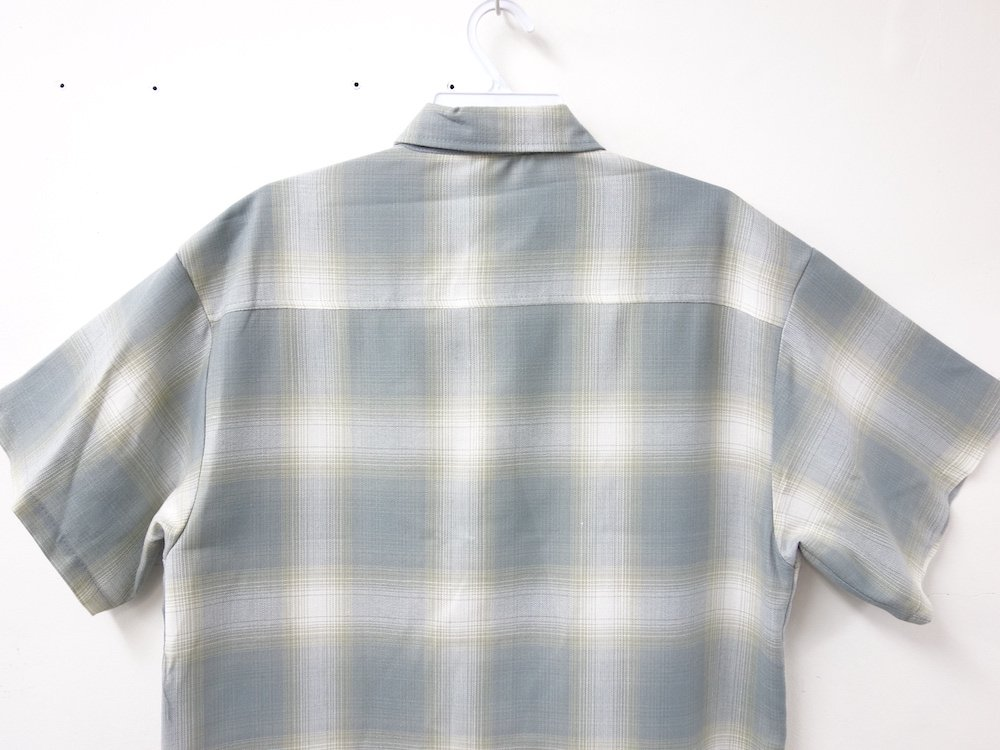 CALTOP OMBRE CHECK S/S シャツ N/G   MADE IN USA