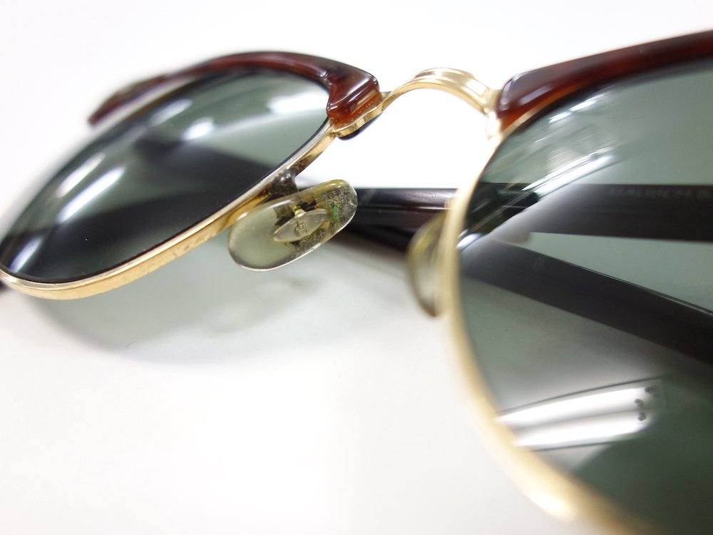 <img class='new_mark_img1' src='https://img.shop-pro.jp/img/new/icons15.gif' style='border:none;display:inline;margin:0px;padding:0px;width:auto;' />VINTAGE RAY-BAN BAUSCH&LOMB社製 CLUBMASTER サングラス MADE IN USA #1 USED