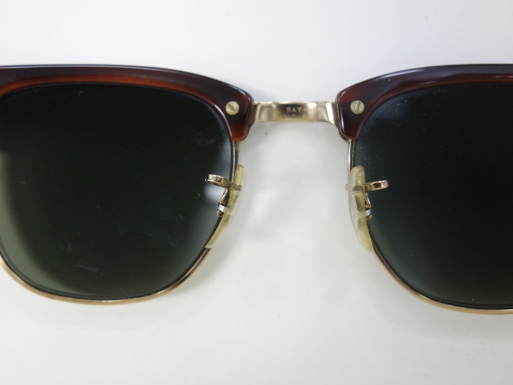 VINTAGE RAY-BAN BAUSCH&LOMB社製 CLUBMASTER サングラス MADE IN USA #4 USED