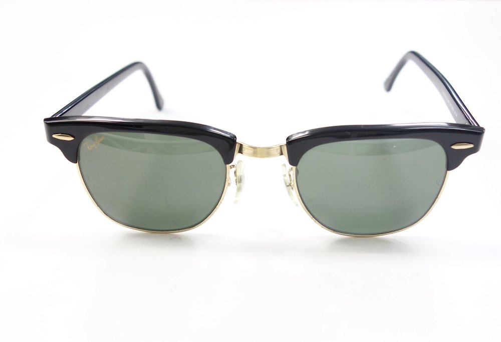 <img class='new_mark_img1' src='https://img.shop-pro.jp/img/new/icons15.gif' style='border:none;display:inline;margin:0px;padding:0px;width:auto;' />VINTAGE RAY-BAN BAUSCH&LOMB社製 CLUBMASTER サングラス MADE IN USA #5 USED
