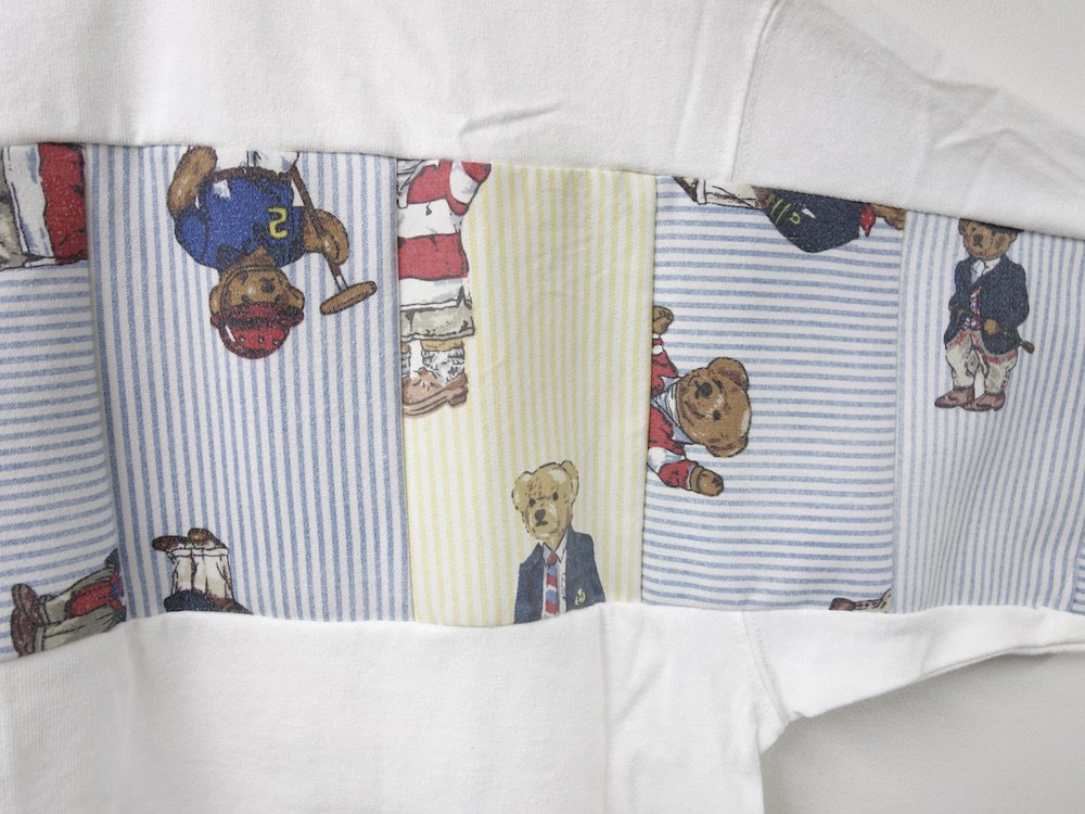 <img class='new_mark_img1' src='https://img.shop-pro.jp/img/new/icons15.gif' style='border:none;display:inline;margin:0px;padding:0px;width:auto;' />SEW UP REMAKE POLO BEAR TEE white L