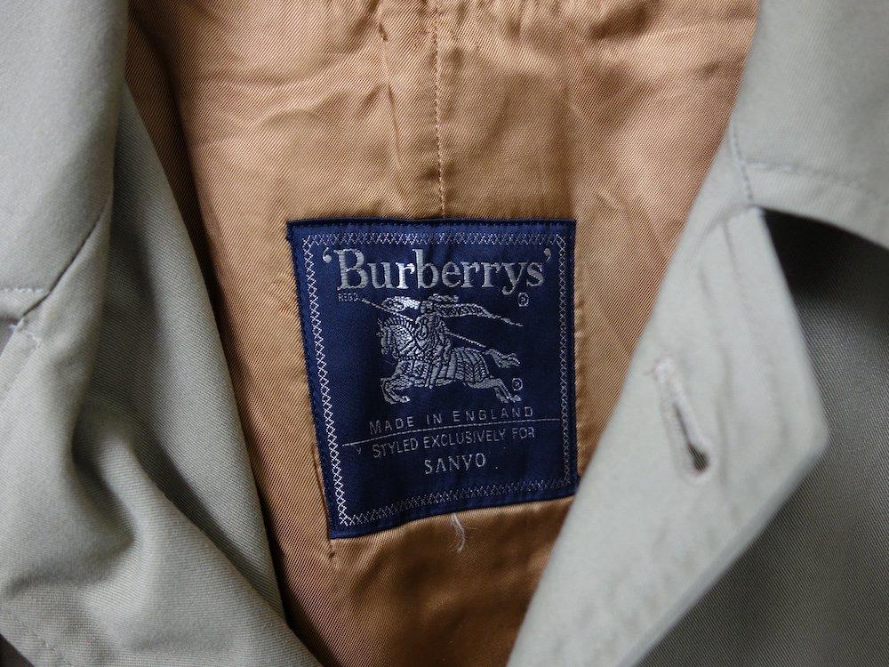 VINTAGE 90's BURBERRYS バーバリー  ライナー付き ステンカラーコート MADE IN USA USED
