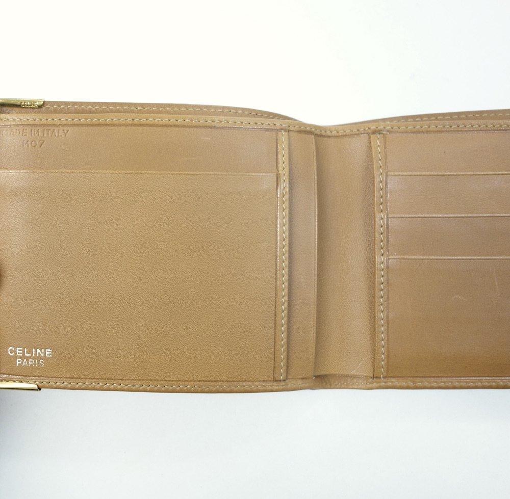 CELINE オールド セリーヌ  マカダム柄  二つ折り財布 イタリア製  USED