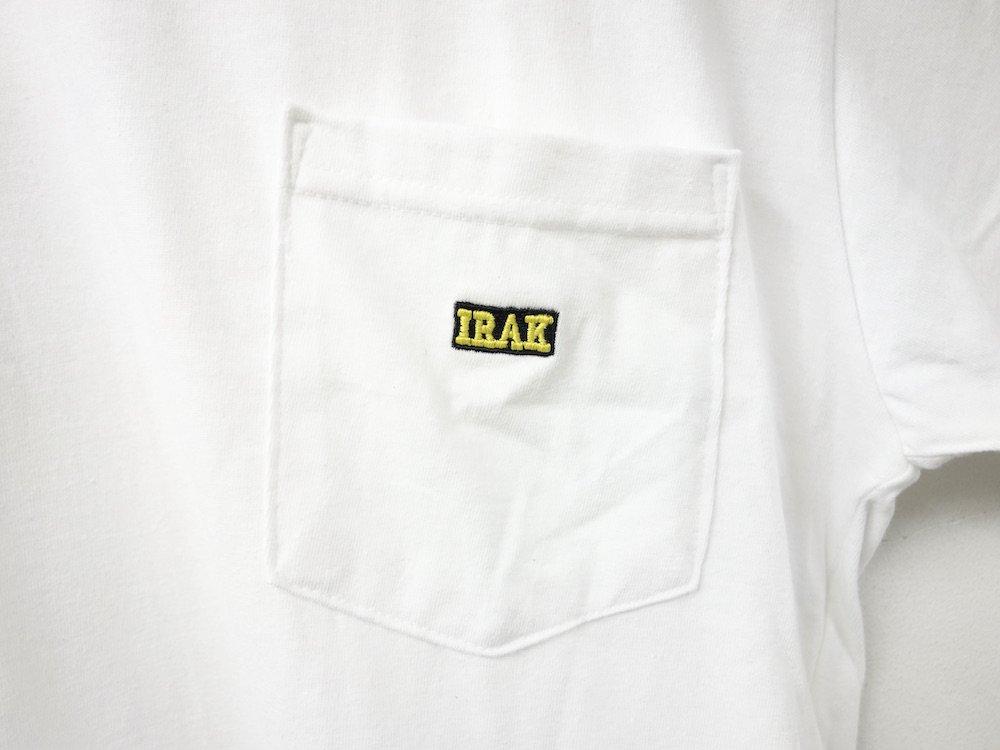 <img class='new_mark_img1' src='https://img.shop-pro.jp/img/new/icons15.gif' style='border:none;display:inline;margin:0px;padding:0px;width:auto;' />IRAK  BOX Logo Pocket Tシャツ white