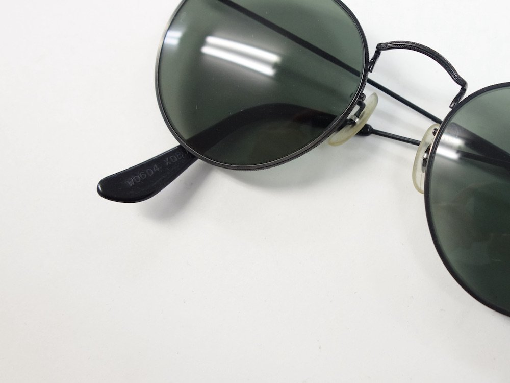 VINTAGE RAY-BAN BAUSCH&LOMB社製 ROUND METAL BLACK サングラス MADE IN USA USED
