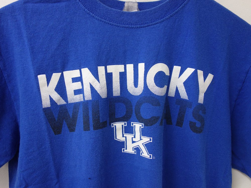 <img class='new_mark_img1' src='https://img.shop-pro.jp/img/new/icons15.gif' style='border:none;display:inline;margin:0px;padding:0px;width:auto;' />後染め KENTUCKY WILDCATS Tシャツ USED