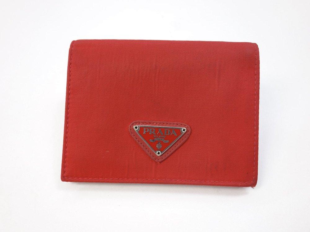 PRADA プラダ  ナイロン 二つ折り財布 MADE IN ITALY USED