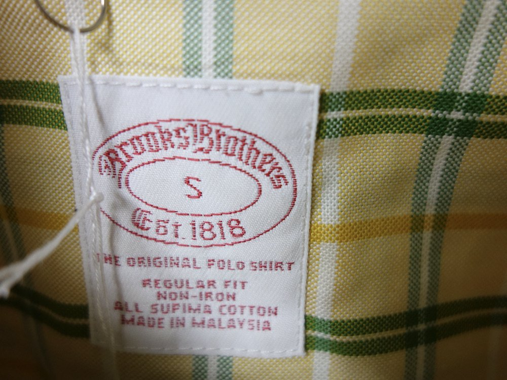 <img class='new_mark_img1' src='https://img.shop-pro.jp/img/new/icons15.gif' style='border:none;display:inline;margin:0px;padding:0px;width:auto;' />BROOKS BROTHERS  BD チェック柄 オックスフォード シャツ USED