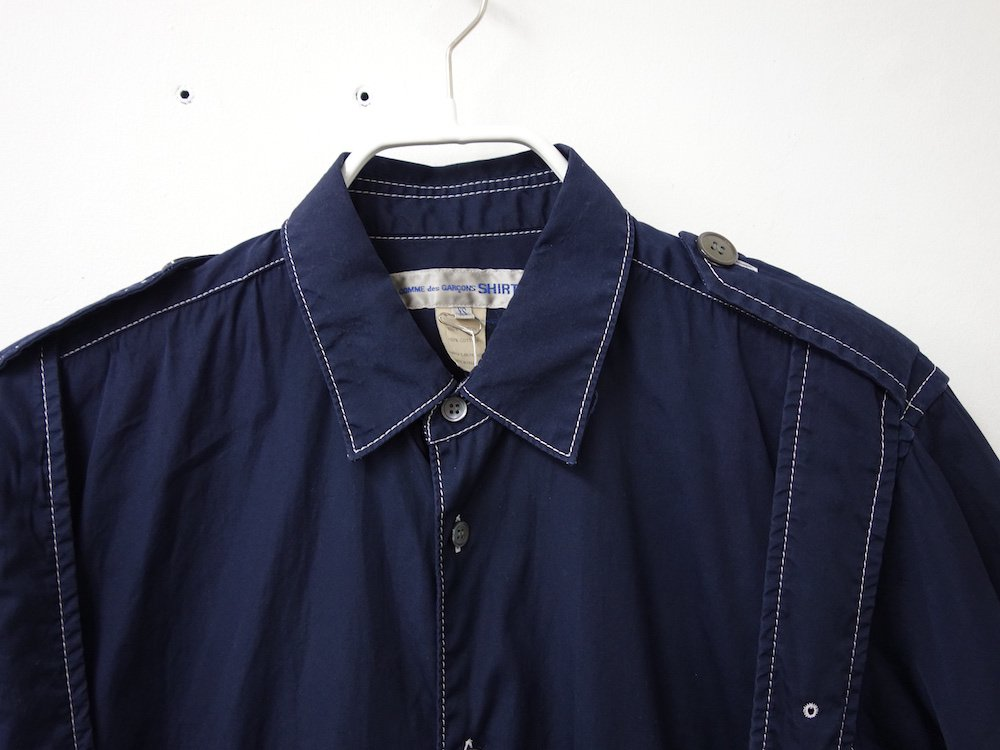 <img class='new_mark_img1' src='https://img.shop-pro.jp/img/new/icons15.gif' style='border:none;display:inline;margin:0px;padding:0px;width:auto;' />COMME des GARCONS SHIRT ボンテージシャツ フランス製 USED