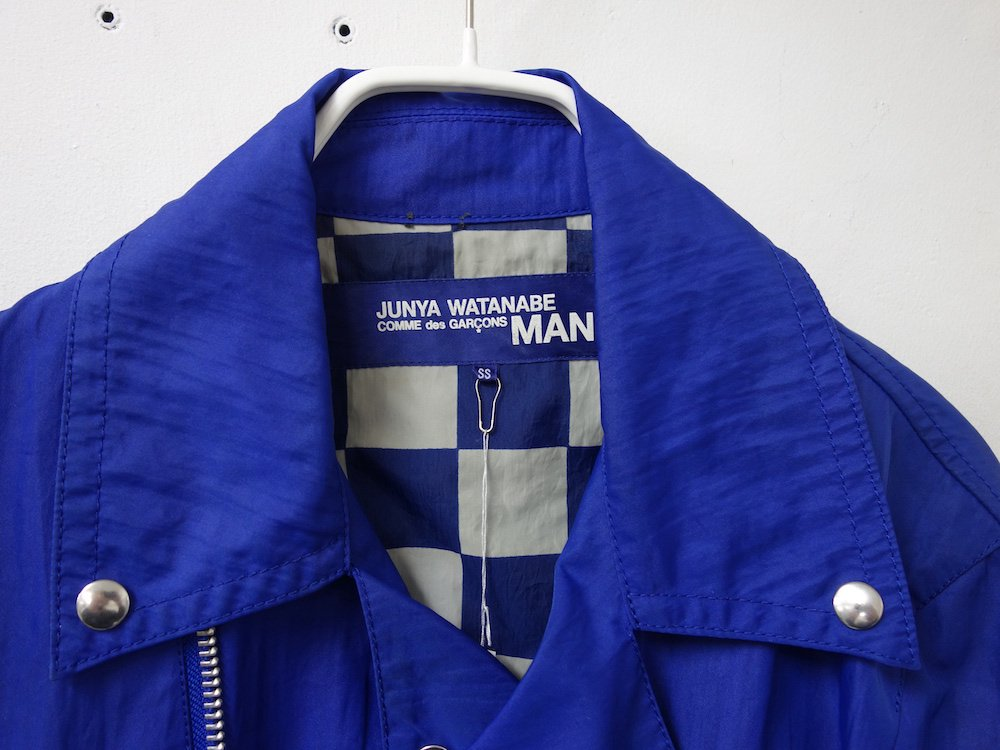 <img class='new_mark_img1' src='https://img.shop-pro.jp/img/new/icons15.gif' style='border:none;display:inline;margin:0px;padding:0px;width:auto;' />JUNYA WATANABE MAN COMME des GARCONS ライダースブルゾン AD2006 日本製 USED