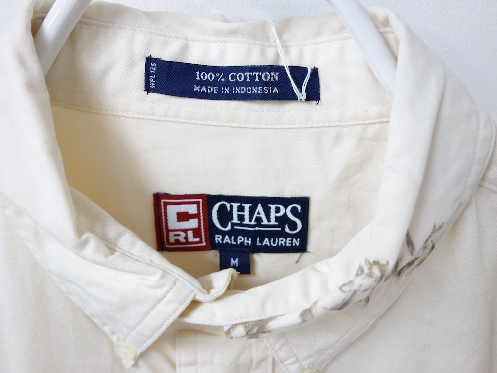 <img class='new_mark_img1' src='https://img.shop-pro.jp/img/new/icons15.gif' style='border:none;display:inline;margin:0px;padding:0px;width:auto;' />CHAPS Ralph Lauren BD 総柄 シャツ USED