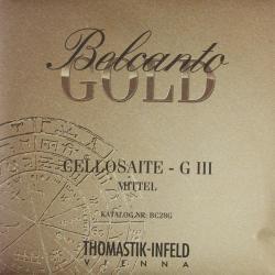 ベルカント ゴールド チェロ弦 旧パッケージ G線