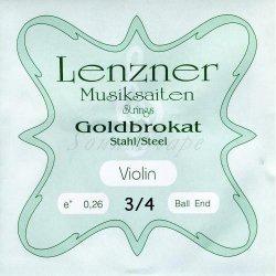 ゴールドブラカット E線 3/4 バイオリン分数弦