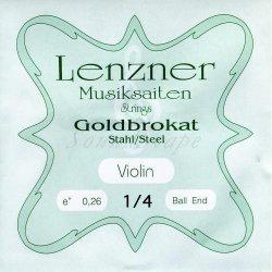 ゴールドブラカット E線 1/4 バイオリン分数弦