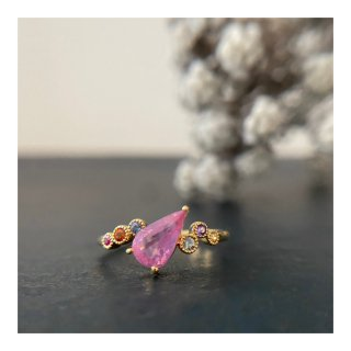 K18シルキーピンクスピネルリング(アミュレット) 1.03ct/0.15ct<img class='new_mark_img2' src='https://img.shop-pro.jp/img/new/icons1.gif' style='border:none;display:inline;margin:0px;padding:0px;width:auto;' />