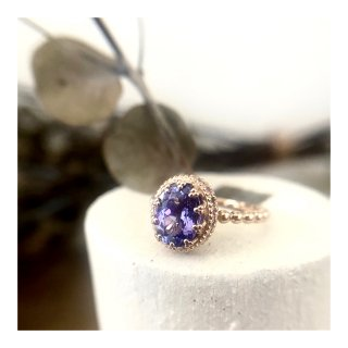 K18タンザナイト&サファイアリング 1.85ct/0.33ct<img class='new_mark_img2' src='https://img.shop-pro.jp/img/new/icons1.gif' style='border:none;display:inline;margin:0px;padding:0px;width:auto;' />