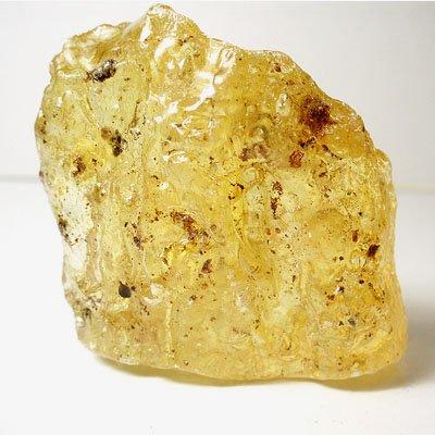 天然石・琥珀(アンバー)原石 虫入り・紐通し穴ありの画像