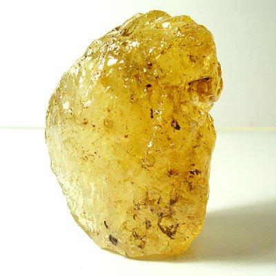 天然石・琥珀(アンバー) 虫入り・紐通し穴ありの画像