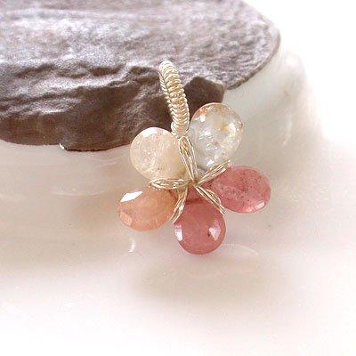 サファイア  ☆賢者のパワーストーン 愛の石の花ペンダント 現品 の画像