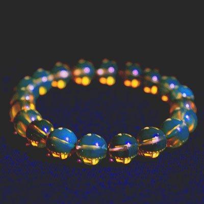 ▲SALEパワーストーン・ブルーアンバーAAA天然琥珀・ドミニカ共和国☆大地の贈物・内包物の無い石は流通も極僅かです。の画像