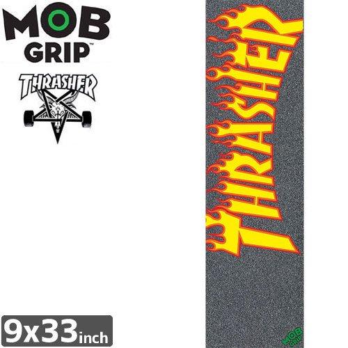 【モブグリップ MOB GRIP デッキテープ】USモデル THRASHER FLAME LOGO GRIPTAPE【9 x 33】NO124