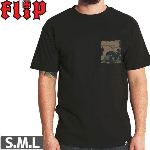 【フリップ FLIP スケボー Tシャツ】CAMO POCKET TEE【ブラック】NO29