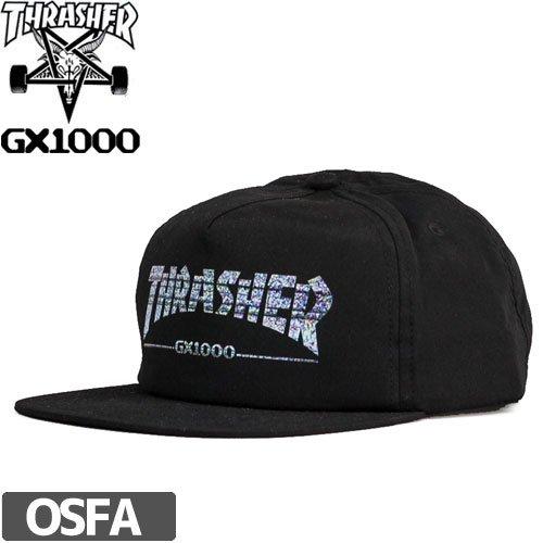 【スラッシャー THRASHER キャップ】USモデル GX1000 SNAPBACK CAP【コラボモデル】NO28